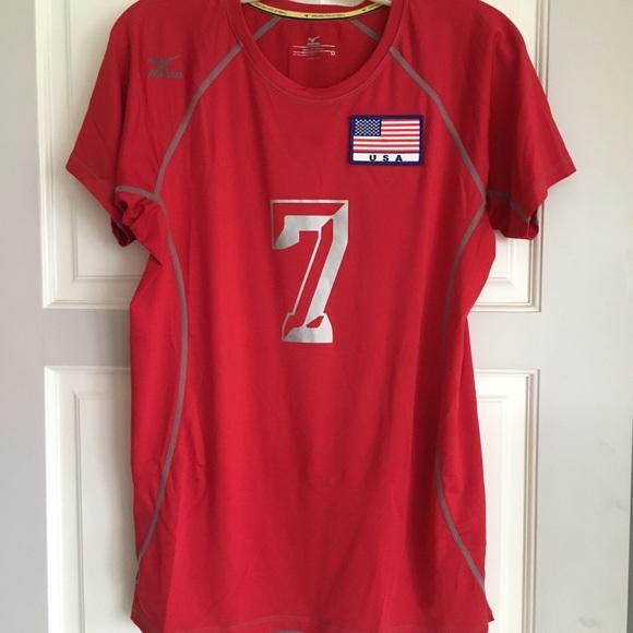 mizuno usa volleyball shirt pattern